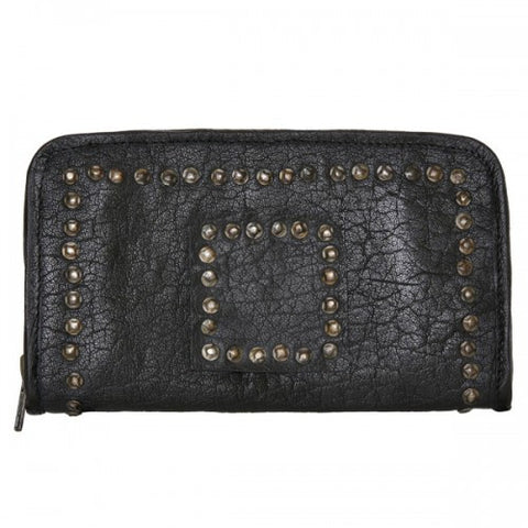CADELLE LEATHER Mina Stud Wallet Black