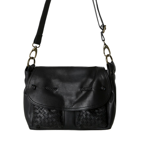 Cadelle Leather Mini Charlie Crossbody Bag Black
