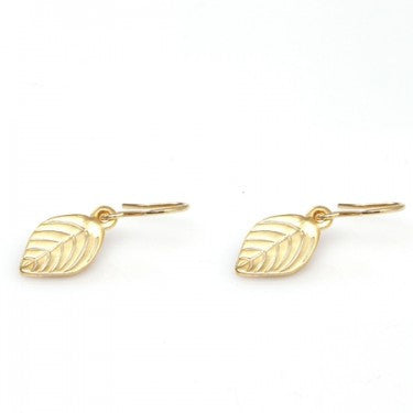 PIGEONHOLE Mini Leaf Earrings