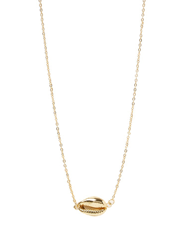 MIZ CASA & CO Arue Island Shell Necklace Gold
