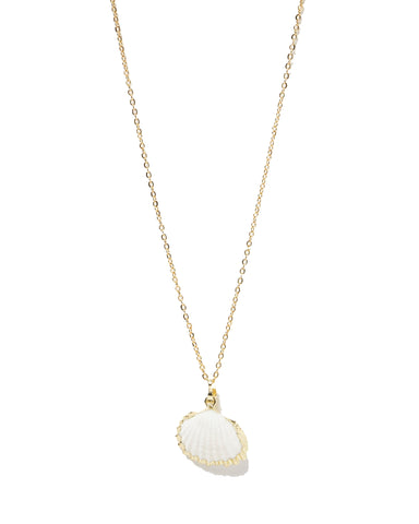 MIZ CASA & CO Bora Bora Shell Necklace Gold
