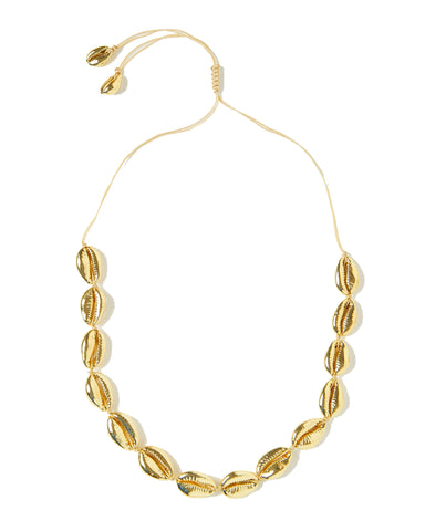MIZ CASA & CO Cowrie Necklace Gold