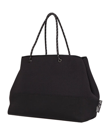 MIZ CASA & CO Ivy Neoprene Black Tote Bag