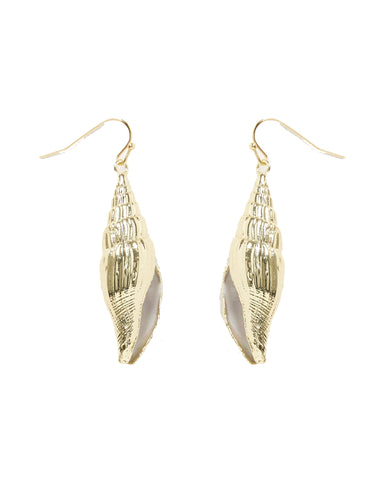 MIZ CASA & CO Martira Shell Earrings Gold