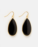 MIZ CASA & CO Sea Petal Earrings Black Gold