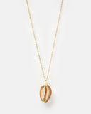 MIZ CASA & CO Polynesia Shell Necklace Gold