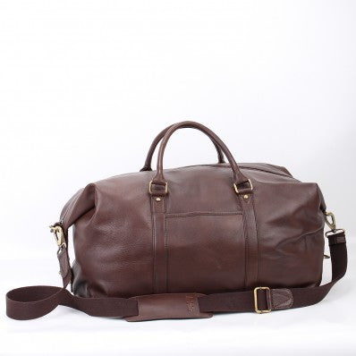 ZOOMLITE  Leather Monaco Holdall Duffle Bag Chocolate