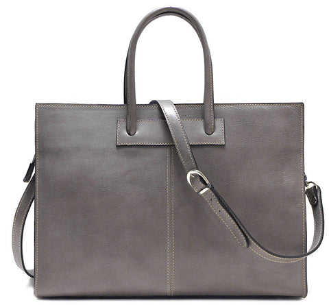 FLOTO Monteverde Leather Satchel Bag Grey