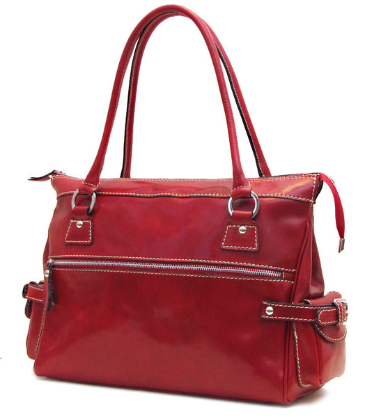 FLOTO Monticello Handbag Tuscan Red