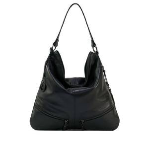 MANZONI Leather Shoulder Bag (Style N528) - SALE - BLACK