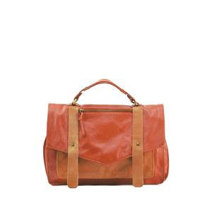 MANZONI Leather and Suede Satchel  Bag (Style N550) SALE - VALENCIA
