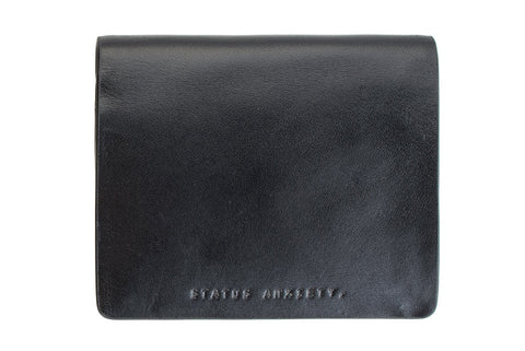 STATUS ANXIETY Nathaniel Leather Wallet Black