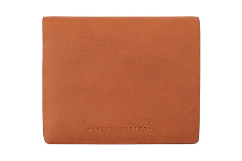 STATUS ANXIETY Nathaniel Leather Wallet Camel