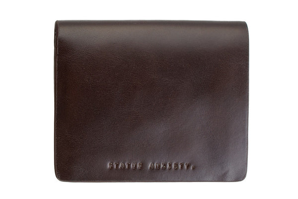 STATUS ANXIETY Nathaniel Leather Wallet Chocolate