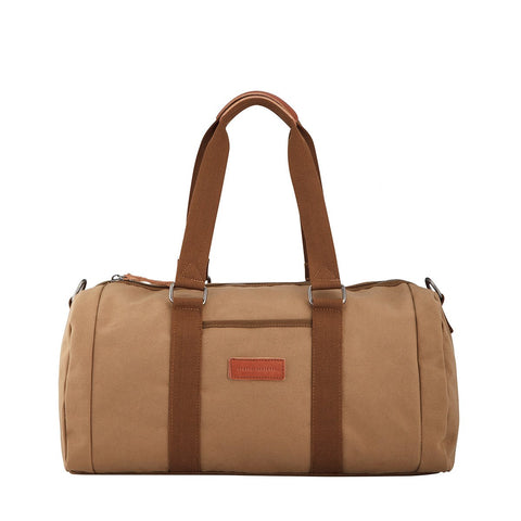 STATUS ANXIETY NO LIMITS DUFFLE BAG CAMEL BROWN