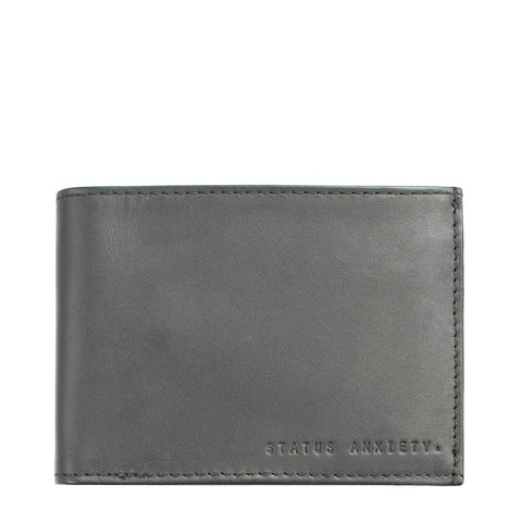 STATUS ANXIETY NOAH LEATHER WALLET SLATE GREY
