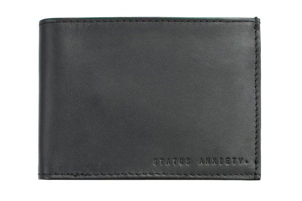 STATUS ANXIETY Noah Leather Wallet Black