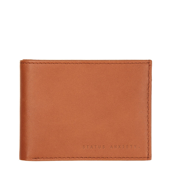 STATUS ANXIETY Noah Leather Wallet Camel