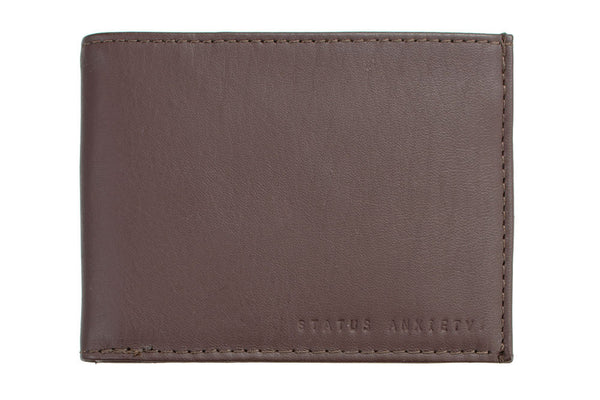 STATUS ANXIETY Noah Leather Wallet Chocolate