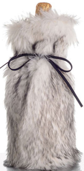 Absolutely Fab Fur Wine Bag Mink