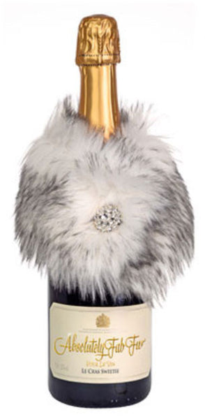 Absolutely Fab Fur Wine Stole Mink