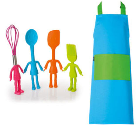 Little Helper Kids Kitchen Utensils and Apron Set Blue