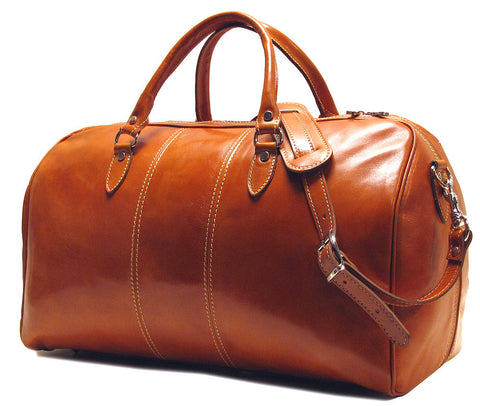 FLOTO Venezia Leather Duffle Olive Honey Brown