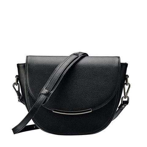 Status Anxiety The Oracle Leather Shoulder Bag Black