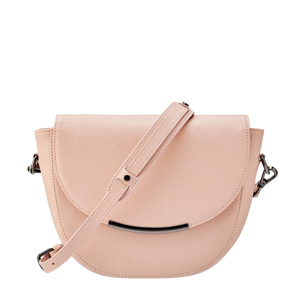 Status Anxiety The Oracle Leather Shoulder Bag Dusty Pink