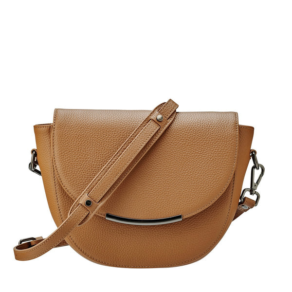 Status Anxiety The Oracle Leather Shoulder Bag Tan Brown