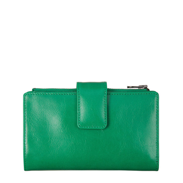 STATUS ANXIETY Outsider Leather Wallet Emerald Green