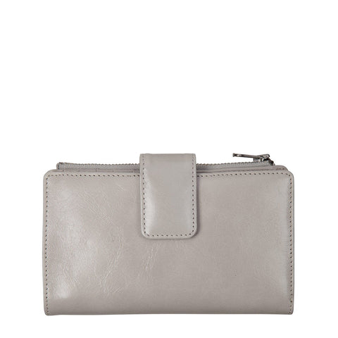 STATUS ANXIETY Outsider Leather Wallet Light Grey