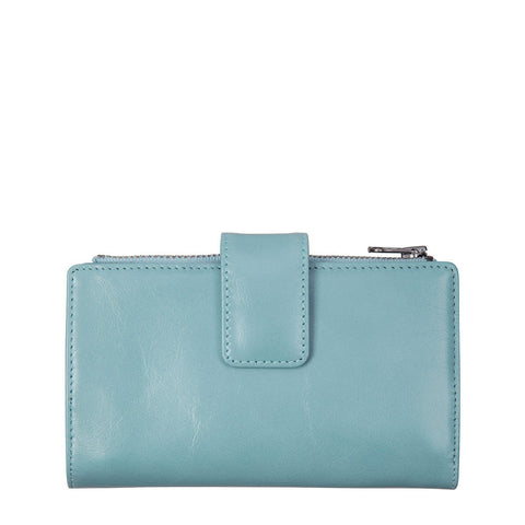 STATUS ANXIETY Outsider Leather Wallet Sky Blue