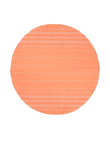 Miz Casa & Co Palm Beach Round Turkish Towel Orange