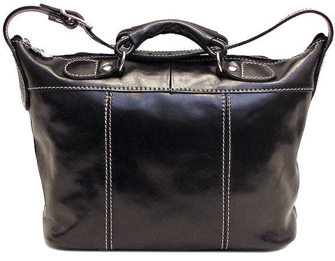 FLOTO Piana Leather Mini Tote Black