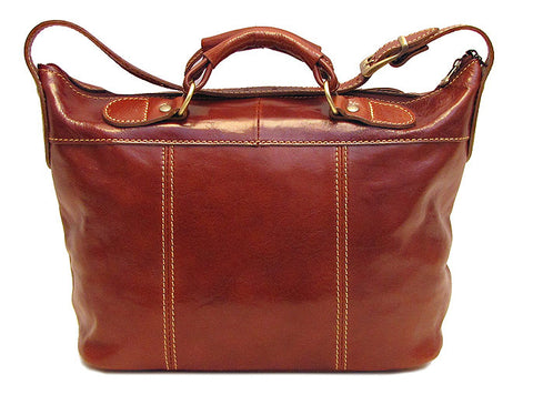 FLOTO Piana Leather Mini Tote Vecchio Brown