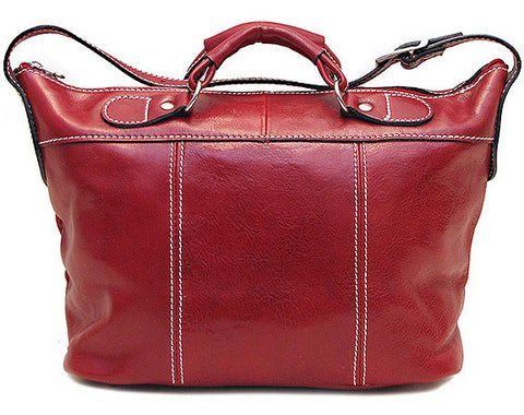 FLOTO Piana Leather Mini Tote Tuscan Red