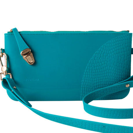 PISIDIA Silicone Clutch Teal SALE