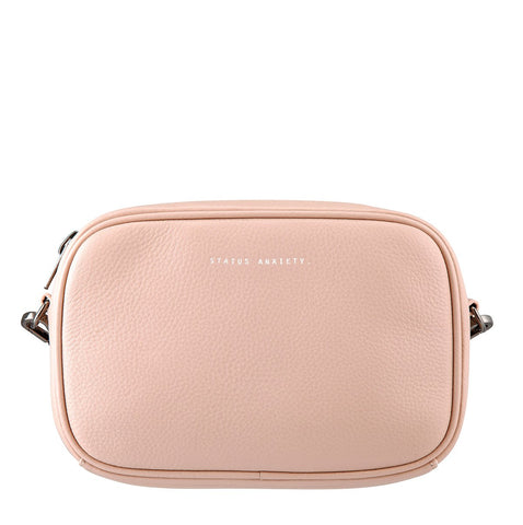 STATUS ANXIETY PLUNDER LEATHER CROSSBODY BAG PINK