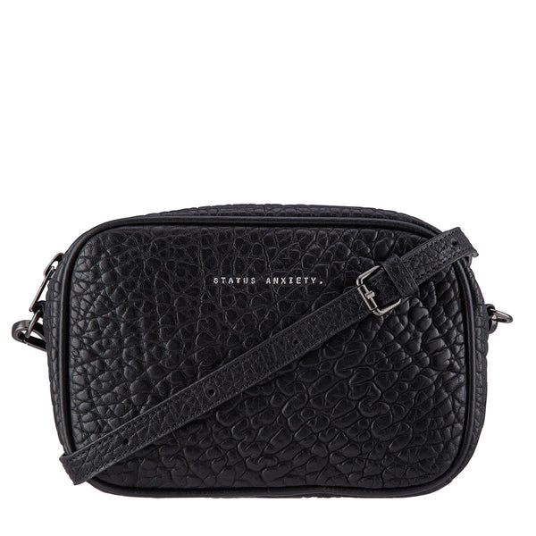STATUS ANXIETY Plunder Leather Crossbody Bag Black Bubble