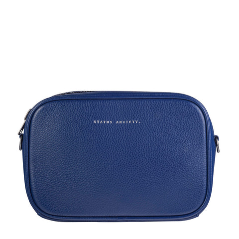 STATUS ANXIETY Plunder Leather Bag Blue