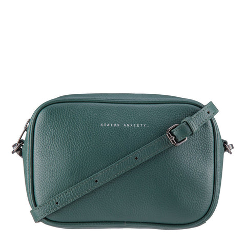 STATUS ANXIETY Plunder Leather Crossbody Bag Green