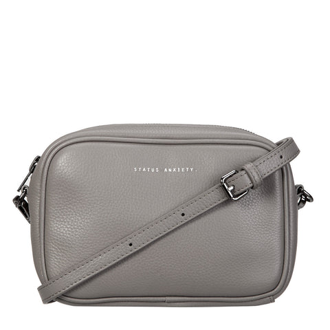 STATUS ANXIETY Plunder Leather Bag Cement Grey