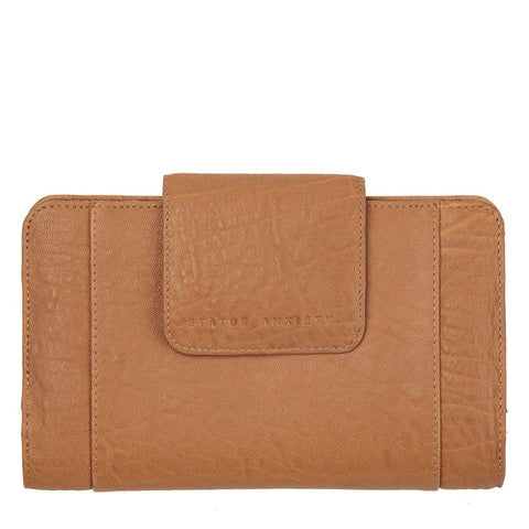 STATUS ANXIETY Precipice Leather Wallet Camel Brown