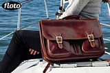 FLOTO Procida Leather Backpack Vecchio Brown