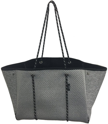 PUNCH Neoprene Tote Shoulder Bag Grey Marle