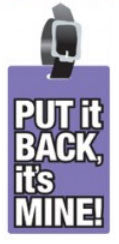 Put It Back It's Mine Luggage Tags (Set of 2)