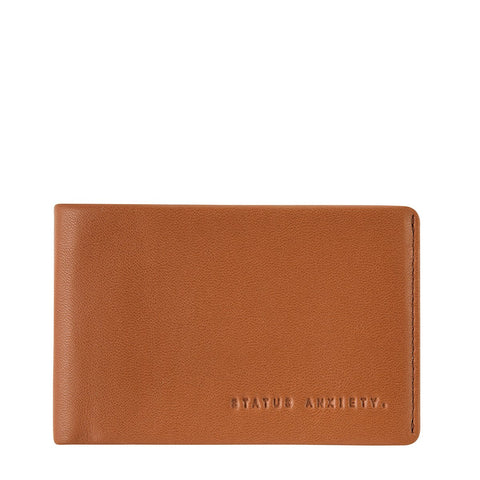 STATUS ANXIETY QUINTON LEATHER WALLET CAMEL BROWN
