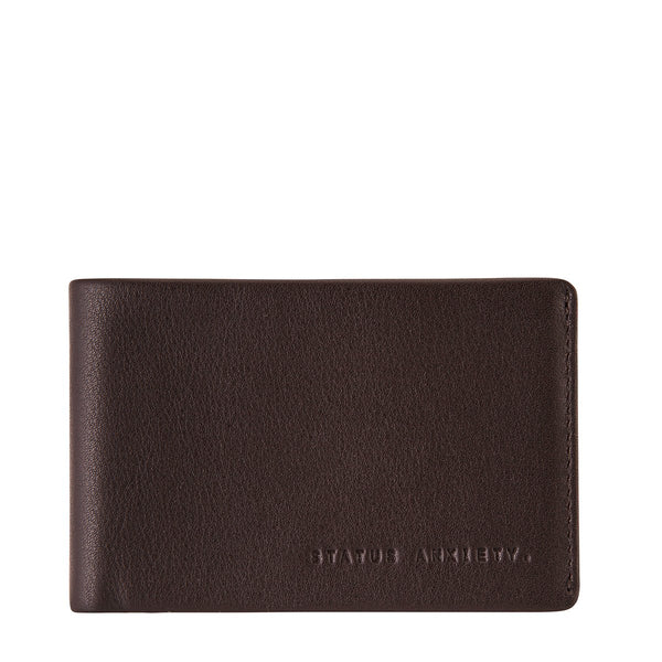 STATUS ANXIETY QUINTON LEATHER WALLET CHOCOLATE BROWN