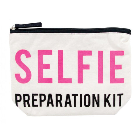 Selfie Preparation Kit Canvas Cosmetic Bag